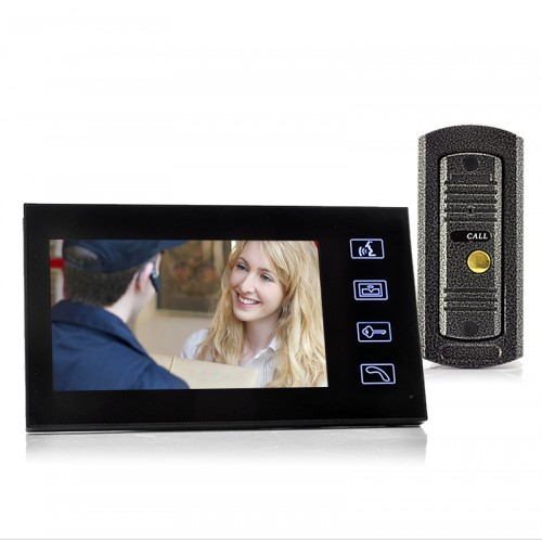 7%22 Touch Panel Video Door Phone & Camera Set