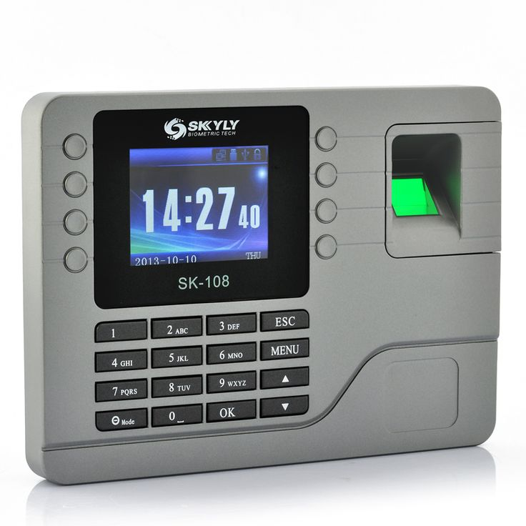 Color Screen Fingerprint Time Attendance System – 2.8″, 80000 Capacity Record