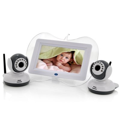 7 Inch Baby Monitor + 2x Night Vision Camera Set