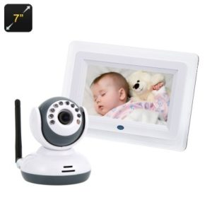 7″ 2.4GHz Digital Wireless Baby Monitor + Camera Set
