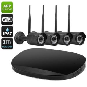 4 Channel NVR Security Kit – 720P Recording, 1TB Storage