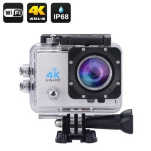 4K Wi-Fi Waterproof Sports Action Camera – 2 Inch LCD Display, 4K Ultra HD