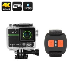 Ultra HD 4K Action Camera – 20MP, Wrist Remote Control