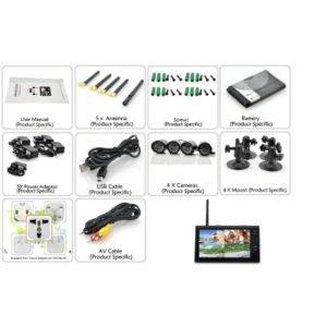 Wireless 4 Channel Security System Gallery Image 1